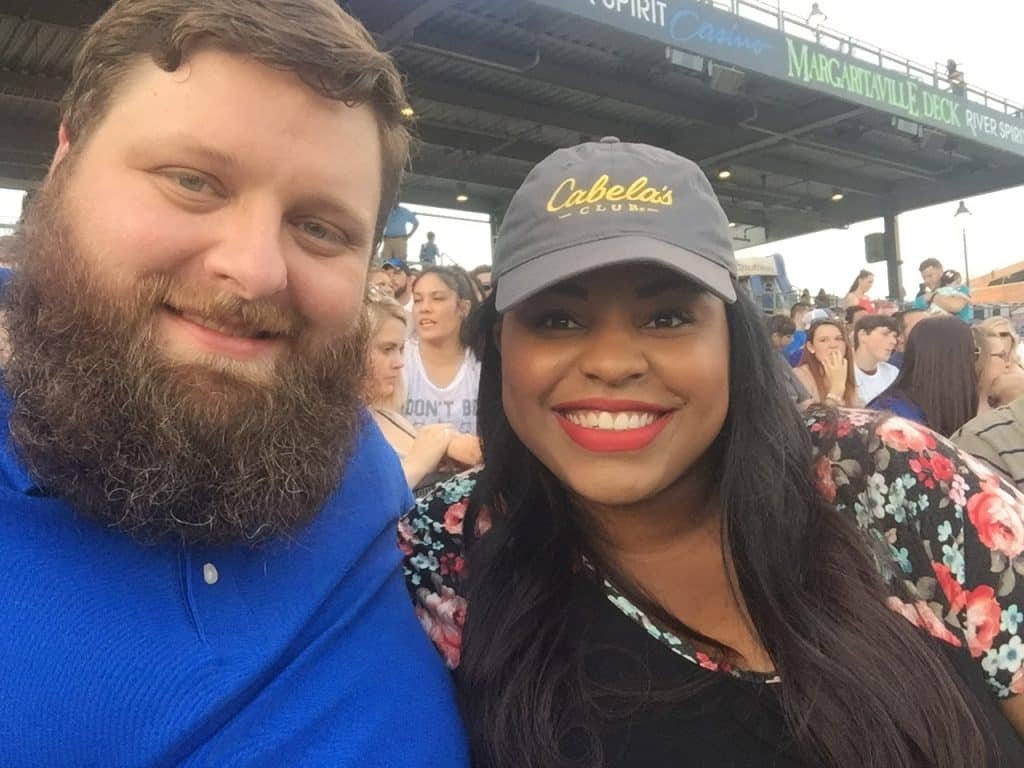 Spencer Heckathorn and his very lovely wife at a baseball game.